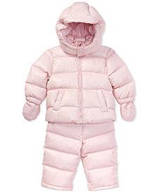 Polo Ralph Lauren Baby Girls Quilted Snowsuit