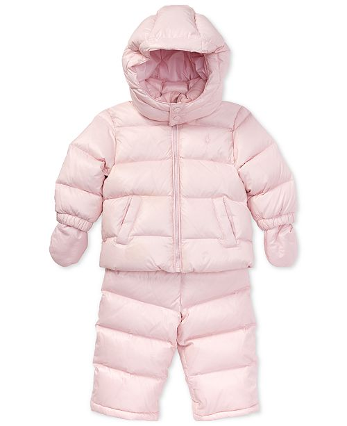 87e252d95 Polo Ralph Lauren Baby Girls Quilted Snowsuit   Reviews - Coats ...