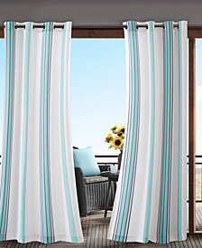 Madison Park Newport Grommets Printed Stripe 3M Scotchgard Outdoor Panel Collection