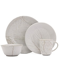 Arya White 16 Piece Place Setting, Service for 4