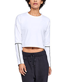 Under Armour Lighter Longer Cropped Crew Long Sleeve Top