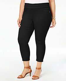 Style & Co Plus Size Pull-On Ankle Pants, Created for Macy's