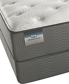 "ONLINE ONLY! BeautySleep 12"" White Pass Luxury Firm Mattress Set- Queen Split"