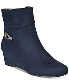 Impo Glammed Wedge Zip  Booties