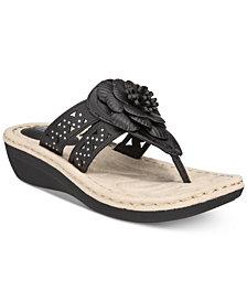 White Mountain Cynthia Thong Wedge Sandals