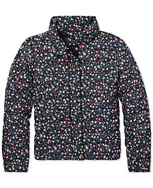 Polo Ralph Lauren Big Girls Floral Quilted Jacket