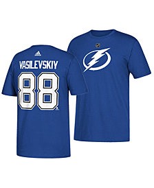 adidas Men's Andrei Vasilevskiy Tampa Bay Lightning Silver Player T-Shirt
