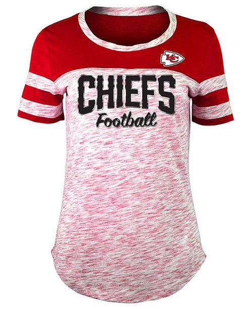 5th   Ocean Women s Kansas City Chiefs Space Dye T-Shirt - Sports ... d3e4c094b