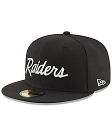 Oakland Raiders Retro Script 59FIFTY FITTED Cap
