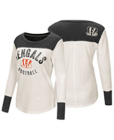 Touch by Alyssa Milano Women's Cincinnati Bengals Thermal Long Sleeve T-Shirt