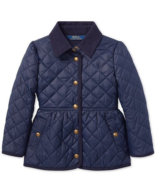d739e8137 Polo Ralph Lauren Little Girls Quilted Barn Jacket & Reviews - Coats ...