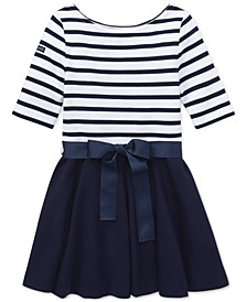 Big Girls Striped Jersey-Ponté Knit Dress