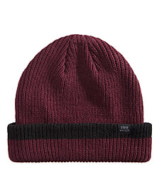 Steve Madden Men's Ribbed Cuffed Beanie