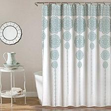 """Stripe Medallion 72""""x 72"""" Shower Curtain"""