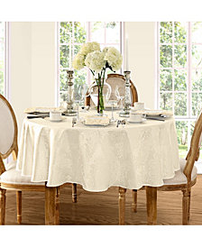 "Elrene Barcelona Damask Antique 60"" x 84"" Oval Tablecloth"