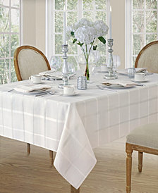 Elrene Elegance Plaid White Table Linen Collection