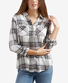 Lucky Brand Plaid Boyfriend Shirt