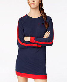 Tommy Hilfiger Sport Racing-Stripe French Terry Sweatshirt Dress, Created for Macy's