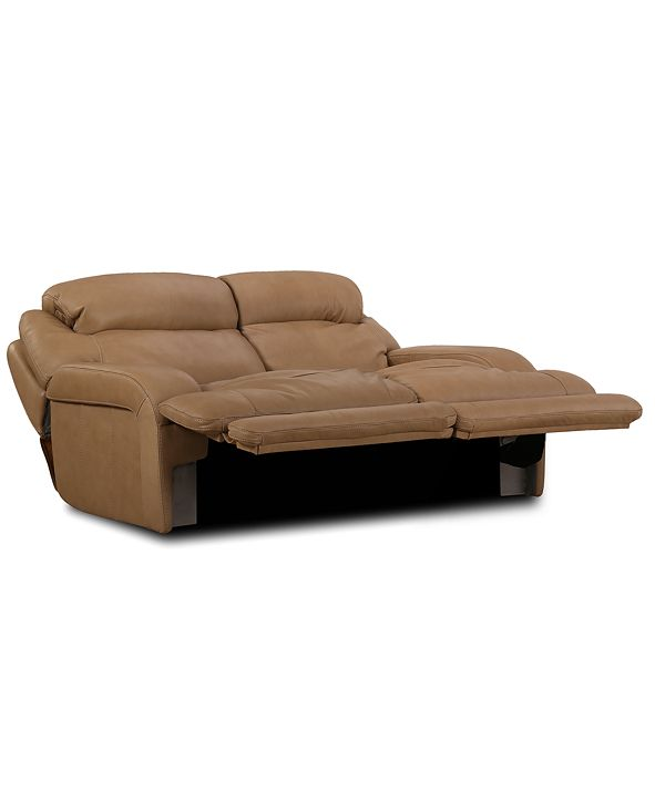 """Furniture Daventry 84"""" 2-Pc. Leather Sectional Sofa With 2 Power Recliners, Power Headrests And USB Power Outlet"""