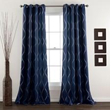 "Swirl Room 52"" x 84"" Darkening Window Curtain Set"
