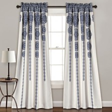 "Stripe Medallion Room Darkening 52"" x 84"" Window Curtain Set"