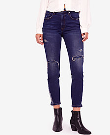 Free People About A Girl Ripped Skinny Jeans