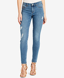 Jessica Simpson Kiss Me Ripped Super-Skinny Jeans