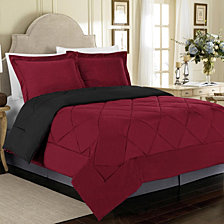 All Season Peach Skin Reversible Full/Queen Bedding Comforter Set