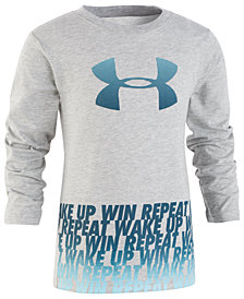 Under Armour Toddler Boys Wake Up Win Repeat Graphic T-Shirt