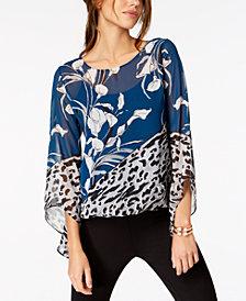 Alfani Angel-Sleeve Blouson Top, Created for Macy's