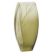 Evergreen 12.5 Inch Square Vase