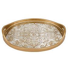 Manta Gold 18 Inch Oval Tray