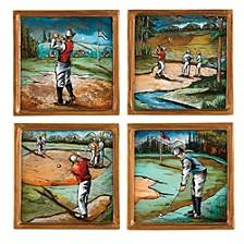 4-Piece Golf 4 Inch Coaster Set