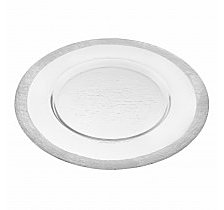Silver Border Round 13 Inch Charger