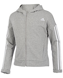 adidas Big Girls Zip-Up Cotton Hoodie