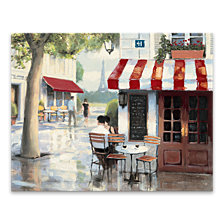 Relaxing At The Cafe Printed Canvas