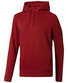 Puma Men's Embossed-Logo Fleece Hoodie