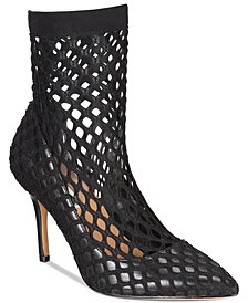 I.N.C. Cherise Fishnet Sock Booties, Created For Macy'ss