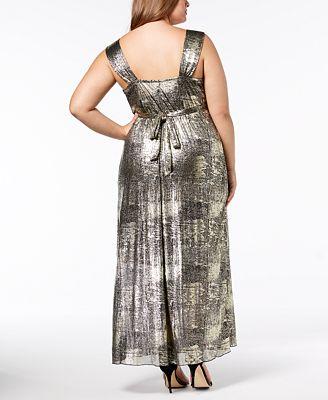 Connected Plus Size Metallic Maxi Dress Dresses Women Macy S