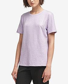 DKNY Crew-Neck Sequin Top, Created for Macy's
