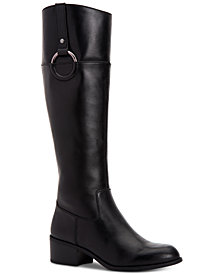 Alfani Women's Step 'N Flex Briaah Wide-Calf Riding Boots, Created for Macy's