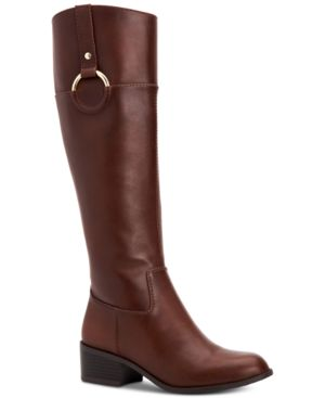 Image of Alfani Women's Step 'N Flex Briaah Wide-Calf Riding Boots, Created for Macy's Women's Shoes