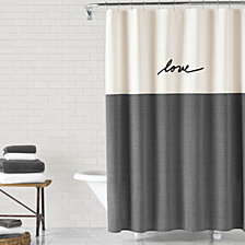 ED Ellen DeGeneres Words Shower Curtain