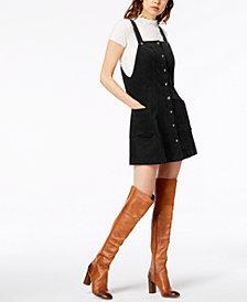 Socialite Corduroy Overalls Dress
