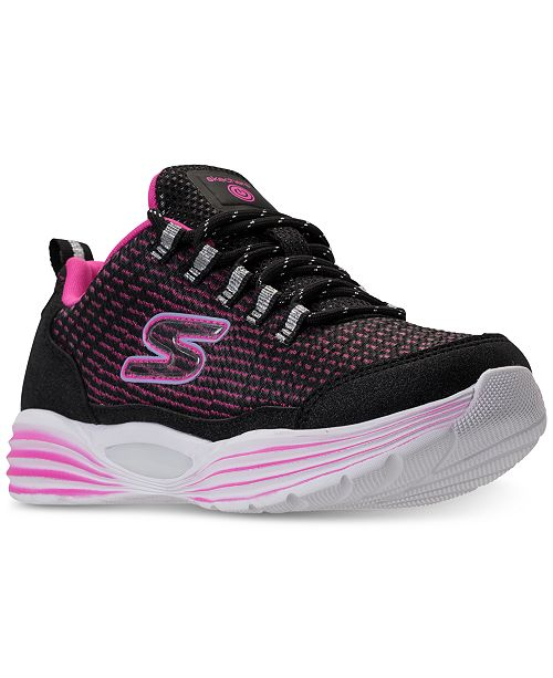 048987b9e864 ... Skechers Girls  S Lights  Luminators Light-Up Athletic Sneakers from  Finish ...