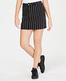 Vanilla Star Juniors' Cotton Striped Mini Skirt