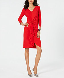 Thalia Sodi Knot-Front Dress, Created for Macy's