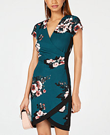 Almost Famous Juniors' Framed Wrap Dress