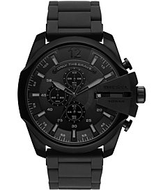 Diesel Men's Chronograph Mega Chief Black Stainless Steel Bracelet Watch 48mm