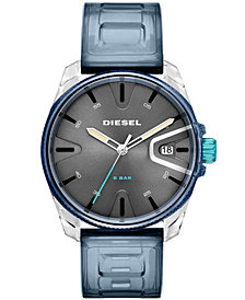 Diesel Men's Blue Polyurethane Strap Watch 44mm